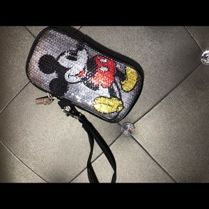 Mickey Mouse Fabric Phone Case Wristlet
